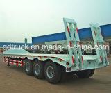 60 de ton lowbed, Op zwaar werk berekende lage de jongensaanhangwagens van de tri-As