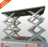 Coche hidráulico de elevación mesa estacionaria Plataforma elevadora de tijera Auto