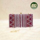 Classic Style Lady Evening Bag Wollen Clutch Purse Best Selling Handbag with Chain Eb885