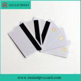 O dobro toma o partido cartão imediato Printable do PVC da identificação da listra magnética da microplaqueta Sle4442