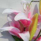 결혼식 홈 훈장을%s 실제적인 접촉 백합 인공 꽃 가짜 꽃