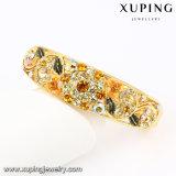 Brazalete plateado oro con estilo de la joyería de la flor 24k del Rhinestone de la manera Bangle-72