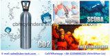 Cilindros de gás de alumínio para usos da bebida/mergulhador/oxigênio médico que respira