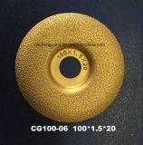 El vacío cubrió con bronce el diamante del laser consideró la lámina para el concreto con precio promocional