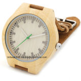 Relógios de madeira de bambu do melhor movimento de Japão para homens