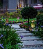 Света романтичного роскошного корифея сада декоративного солнечные с сетью металла вокруг