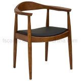 호두 색깔에 있는 단단한 나무 프레임 케네디 팔 의자는 완료했다 (CGW1704)