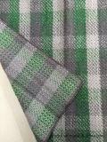 Auf lagercheck-Wolle-Gewebe-grünes u. schwarzes Woollen Tuch
