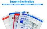 La bolsa de plástico al por mayor del lacre de la seguridad de la alta calidad para el cheque y el efectivo de la batería