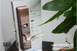 O fechamento de porta biométrico da impressão digital, toma as impressões digitais o fechamento eletrônico, fechamento do punho da impressão digital