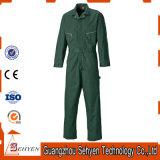 Longue combinaison 35%Cotton et 65%Polyester de chemises avec la couleur verte