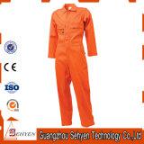 Tuta 65%Polyester arancione e 35%Cotton del nastro di Rflective con i manicotti lunghi
