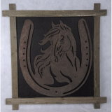 Cavallo antico della decorazione della parete della casa della piastra della parete di arte di attaccatura di parete