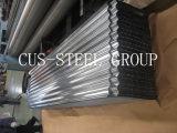 Fornecedor de chapa de aço carbono galvanizado / Folhas de telhado ondulado revestido de zinco