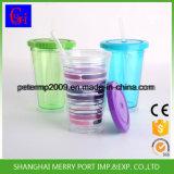 Kundenspezifische doppel-wandige Plastiktrommel, Eis-Saft-Wasser-Flasche (HDP-0174)