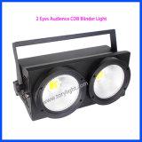 LED Blinder 2 Ojos COB audiencia Luz