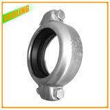 304 e 316 acoplamentos Grooved do conetor da tubulação da braçadeira do aço inoxidável