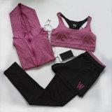 Kundenspezifische Vest+Tops+Leggings Trainingsnazug-Eignung-Trainings-Gymnastik-Yoga-Kleidung