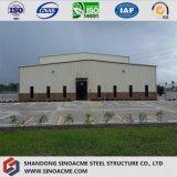 기중기를 가진 산업 Prefabricated 가벼운 강철 구조물 공장 창고