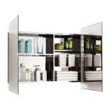 Шкаф зеркала ванной комнаты мебели нержавеющей стали умеренной цены (7012)