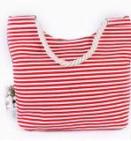 Moda Lady Handbag Canvas e saco de couro PU saco de praia com flores (BDX-161059)
