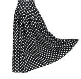 2017 Nuevo diseño de Prendas de Vestir Mujer puntos blanco y negro de falda larga playa de impresión