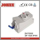 IP44 3p 16A Kontaktbuchse mit Schaltern und mechanischem Sicherheitskreis