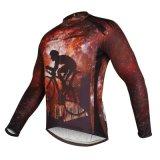 Холодная темнота способа - красная куртка спортов покрывает Джерси людей задействуя