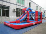 Bouncer di salto combinato rosso gonfiabile