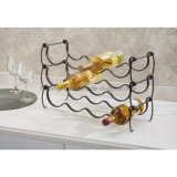 Prateleira de mesa empilhável em metal para armazenamento de vinho Rack para bancadas de cozinha