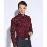 رجال رسميّة قميص كم طويلة نحيلة نوبة ثوب عمل قميص