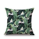 Cassa di tela del cuscino stampata Digitahi del cotone della pianta tropicale senza farcire (35C0028)