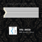 Painel de canto moldando Hn-8658 do Cornice do plutônio do trilho de cadeira e dos painéis de parede