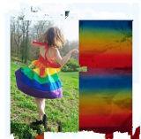 Мода радуги горячие тиснение фольгой