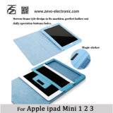 Het in het groot Leer van de Lychee Pu van de Tik van de Steen van het Geval van iPad Mini Zachte voor Appel iPad Mini 1 2 3
