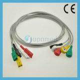 Cable con los Leadwires, broche de presión del terminal de componente ECG del monitor paciente 5 de Bionet Bm3