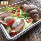 Plato de Ensalada Pulpa de la bandeja de Sandwich con tapa Anti-Fog vajilla