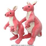 Felpa roja del juguete del canguro con la certificación de seguridad