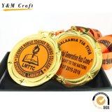 カスタマイズされた丸型の金属のゲームメダル(Q09731)