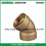 Codo de bronce de alta presión del tubo del OEM (AV-QT-1028)