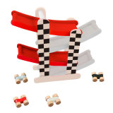 Pista de corridas de F1 de madeira carro brinquedos para crianças e crianças