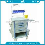 Chariots à médicaments pour chariots de soins infirmiers en ABS desservant des chariots de chariot de salon (AG-NT004B3)