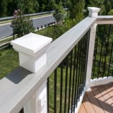 Outdoor Round Stainless Steel Black Deck Balusters
