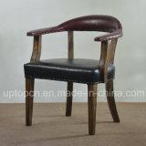 O restaurante de madeira estilo vintage conjunto de móveis com assentos estofados poltrona (SP-CT797)