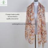 Мода вискоза шарфом Cute Плз напечатано леди для мусульманского хиджаба