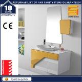 Governo di legno degli articoli di vanità bianca sanitaria della stanza da bagno con il lavabo
