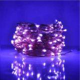 Пурпуровый светляк медного провода светов 16.4FT шнура 12V 50 СИД освещает штепсельную вилку США Ca дистанционного управления