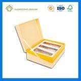 Conjunto de empaquetado cosmético de lujo del rectángulo de papel con la bandeja interna (fábrica de China)