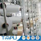 Tissu 100% blanc de matelas de filé de polyester