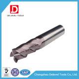 Molinos de 2/3/4 de la flauta extremo del carburo para los altos aceros endurecidos y de alta velocidad sólidos, capa de Tiain